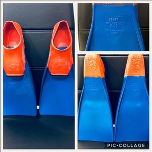 Finis swim fins. Size 5-7. Blue and orange.
